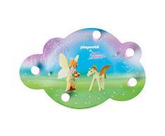 ELOBRA Bildwolke PLAYMOBIL Fairies, Wand-/ Deckenleuchte, 40 LEDs warmweiß, 230V, E14, max 5 x 40 Watt, Serienschaltung, 136232