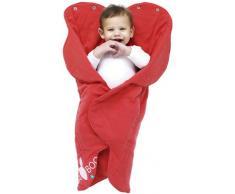 Wallaboo Einschlagdecke Fleur für Babyschale, Autokinderstitz, für Kinderwagen, Suße Blumenform, 0 - 12 Monaten, Farbe: Rot