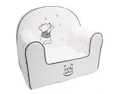 Babycalin DIS550003 Disney Winnie Moon Kindersessel, Abnehmbarer Bezug, Weiß