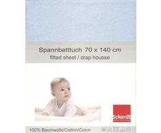 Schardt 13 850 18 Jersey Spannbetttuch, hellblau