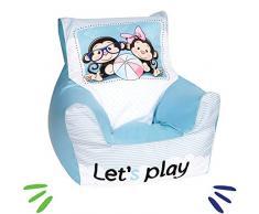 Delsit Kindersitzsack Spielzimmer Kindersessel für Jungen und Mädchen Camping, rosa