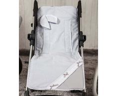 Babyline Praline – Leichte Matte für Kinderwagen, grau