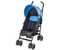 Safety 1st Slim, kompakter Liegebuggy mit Sonnenverdeck, schwarz/hellblau