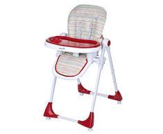 Safety 1st Kiwi Hochstuhl, höhenverstellbar, Tischchen mit abnehmbarem Tablett, kompakt zusammenklappbar, ab ca. 6 Monate bis max. 15 kg, rot