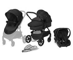 cbx 3-in-1 Kombikinderwagen, Kinderwagen Onida mit Babyschale Shima, inkl. Regenverdeck, Ab Geburt, Smoky Anthracite
