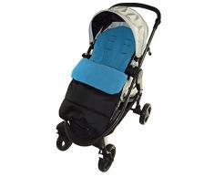 Fußsack/COSY TOES kompatibel mit uppdababy Cruz Kinderwagen Ocean Blau