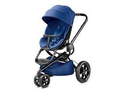 Quinny Moodd Kinderwagen, mit automatischer Aufklappfunktion, Ruheposition in beide Fahrtrichtungen, modernes Design, ab der Geburt bis ca. 3,5 Jahre, blue base/schwarz