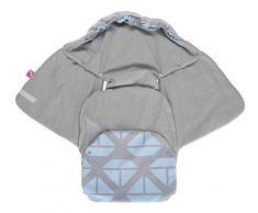 Baby Softshell Einschlagdecke für Babyschale, Autositz, Maxi-Cosi, Römer und andere Marken, ideal für Kinderwagen, Fahrradanhänger, Buggy - Schiffe blau