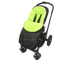 Fußsack/COSY TOES kompatibel mit Petite Star Liner Buggy Kinderwagen zia/KURVI/zukoo Lime