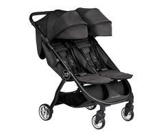 Baby Jogger City Tour 2 Zwillingswagen, kompakt und leicht, zusammenklappbar & Tragbar, Jet (Schwarz)