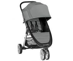 Baby Jogger City Mini 2, leichter Kinderwagen, 3 Räder, Schneller Einhand-Faltmechanismus, Slate (grau)