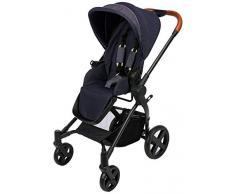 cbx Kinderwagen Kody Lux mit wendbarem Sportsitz, Mit Details in Leder-Optik, Inkl. Regenverdeck, Ab Geburt bis 15 kg, Jeansy Blue