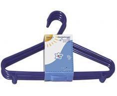 Bieco Kinder Kleiderbügel Kunststoff, Blau, 32 Stück