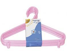 Bieco Kleiderbügel Kinder 8 St. Rosa | Länge ca. 30 cm | Baby Kleiderbügel | Kunststoff Kleiderbügel Kinder Baby | Baby Organiser Für Kleiderschrank | Kleiderbügel Baby | Baby Clothes Hangers