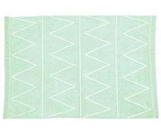 Lorena Canals Waschbarer Teppich Hippy 100% Baumwolle -Hellminze- Weiß- 120x160 cm