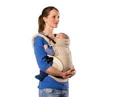 manduca First Baby Carrier > HempCotton sand < Babytrage aus weichem Canvas (Hanf & Bio-Baumwolle) Rückenverlängerung & Ergonomischer Hüftgurt, Bauchtrage, Hüft und Rückentrage (3,5-20kg) beige