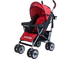 Caretero Spacer Classic, Kinderwagen Buggy, rot