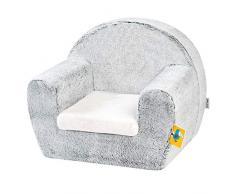 Nattou Sofa für Kinder von 1,5 bis 3 Jahre, 48 x 37 x 40 cm, Tim und Tiloo, Grau
