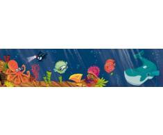 Wandpiraten Kinder Wandbild Fototapete Unterwasserwelt 200 x 46,5 cm