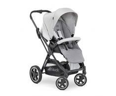 Hauck Mars Sportwagen mit Beindecke, Sitz drehbar, bis 25 kg, 3XL Verdeck, großer Korb, kompakt faltbar, kompatibel mit Babywanne & Babyschale, silber grau