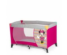 Hauck Kinderreisebett Dream N Play Disney / inklusive Matratze und Transporttasche / 120 x 60cm / ab Geburt / tragbar und faltbar, Minnie Geo Pink (Pink)