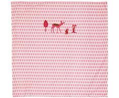TAFTAN DD-701 Baby Bettwaesche Reh für Wiege und Kinderwagen, 80 x 80 cm, rosa