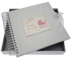 White Cotton Cards Grandma s Boasting Card/Memory Pink Book (Kinderwagen und Wimpelkette)