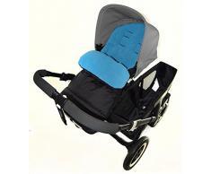Fußsack/COSY TOES kompatibel mit Obaby Travel System Kinderwagen Ocean Blau