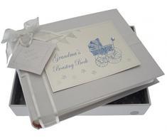 White Cotton Cards Kleines Fotoalbum Oma s Boasting Book (blau Kinderwagen und Wimpelkette)