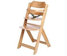 Safety 1st Timba Mitwachsender Hochstuhl ohne Tisch, aus massivem Buchenholz, hohe Rückenlehne, ab ca. 6 Monate bis ca. 10 Jahre (max. 30 kg), buchenholz