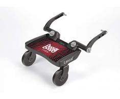 Lascal BuggyBoard Mini, Kinderbuggy Trittbrett mit Stehfläche, Kinderwagen Zubehör für Kinder von 2-6 Jahren (22 kg), kompatibel mit fast jedem Buggy und Kinderwagen, rot