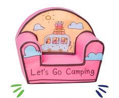 Delsit Kindersessel Babysessel Kinder Sitz Kindermöbel Spielzimmer Sitzsacke für Madchen Camping, rosa