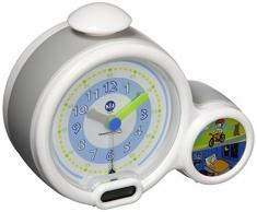 Pabobo Kid Sleep - Wecker - pädagogische Kinderwecker Tag / Nachtlicht - Doppelanzeige und 3 Alarme zu wählen - funktioniert auf Gleichstrom oder Batterien – Grau