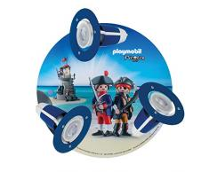 ELOBRA Rondell PLAYMOBIL Pirates, Wand-/ Deckenleuchte, 230V, GU10, max 3 x 6 Watt, 136164