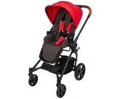 cbx Kinderwagen Kody Lux mit wendbarem Sportsitz, Mit Details in Leder-Optik, Inkl. Regenverdeck, Ab Geburt bis 15 kg, Crunchy Red