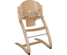 roba TreppenhochstuhI Move, von Babyhochstuhl bis Jugendstuhl in Rückenlehne und Sitz flexibel verstellbarer Hochstuhl, Holz, naturfarben