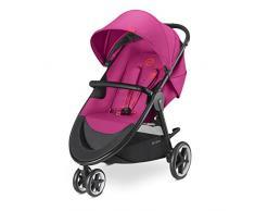 CYBEX Gold Kinderwagen Agis M-Air3, Inkl. Schutzbügel, Ab Geburt bis 17 kg (ca. 4 Jahre), Passion Pink
