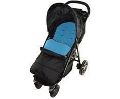 Fußsack/COSY TOES kompatibel mit Jane Epic Kinderwagen Ocean Blau