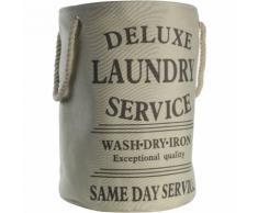 Wäschetonne Laundry 38x54 cm ca. 60 Liter beige Wäschesack Wäschesammler - GENERIC