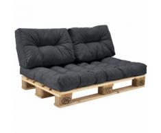 Palettenkissen - 3er Set - Sitzpolster + Rückenkissen [dunkelgrau] Paletten-Sofa In/Outdoor
