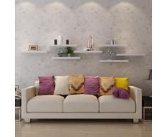 Songmics Wandregal Wandboard 40 x 20 x 3,8 cm Belastbarkeit 15 kg weiß LWS14W