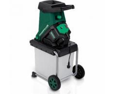 H?cksler Komposter Kompostierer Gartenh?cksler Schredder Garten elektro 2500 W - POWERPLUS