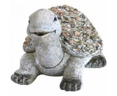 Deko Gartenfigur Schildkröte 32,5 cm Handarbeit Steinoptik - KYNAST GARDEN