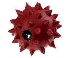 Classic Pet Products Gummi Spike Ball mit Glocke, klein, 50 mm, rot