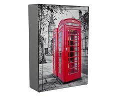Stoffschrank Schuhschrank Schuhregal Motiv rote Telefonzelle London 9 Fächer
