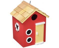 Garden Bazaar HBD-2001 Vogelhaus für Bay Side Beach Hütte, Rot
