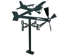 Arthifor Gartenlaterne mit Flugzeug-Silhouette, Schwarz matt