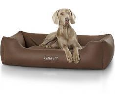 Knuffelwuff 13105 Leder Hundebett Sidney - Größe M - L, 83 x 63 cm, braun