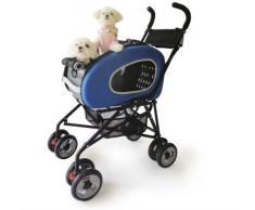 Haustier-Buggy, ips-020/blau, Hunde-Tragetasche, Trolley, Trailer, InnoPet®, Playstation Pet Buggy. Zusammenklappbar Pet Buggy, Kinderwagen, Kinderwagen für Hunde und Katzen.