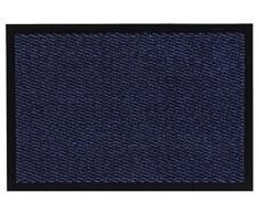 andiamo Schmutzfangmatte, Fußmatte aus Polypropylen - Indoor/Outdoor geeignet - in 90 x 150 cm Blau - 5 mm Höhe